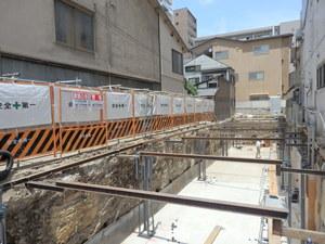 QUINT五条烏丸・基礎工事(H28年7月).JPGのサムネール画像